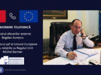 Convorbire telefonica Bogdan Aurescu – Michel Barnier. Stadiul negocierilor UE – Regatul Unit
