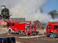 Incendiu puternic lângă București