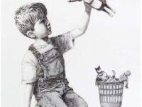 O operă creată de Banksy pentru NHS, vândută la licitaţie cu 20 de milioane de dolari