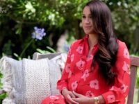 """Los Angeles, CA  - Meghan Markle shows off her growing baby bump as she sends a pre-recorded message to Vax Live concert. The pregnant Duchess of Sussex recorded her message in the garden of her and Prince Harry's Montecito home while he attended the star studded special in person. Dressed in a red flowery gown, Meghan was show from several angles during the two minute clip and at one point rested her hands on her bump. She spoke about vaccines and supporting women and women of colour. She said: """"The past year has been defined by communities coming together, tirelessly and heroically, to tackle Covid 19. We have gathered tonight because the road ahead is getting brighter but is going to take every one of us to find our way forward. As campaign chairs of VaxLive, my husband and I believe it is critical that our recovery prioritizes the health, safety and success of everyone, particularly women who have been disproportionately affected by the pandemic. Woman, and especially women of colour, have been a generation of economic gain wiped out. Since the pandemic began nearly 5.5 million women have lost work in the US and 47 million more women around the world are expected to slip into extreme poverty. My husband and I are thrilled to soon be welcoming a daughter. It's a feeling of joy we share with millions of other families around the world. When we think of her, we think of all the women and girls around the globe who must be given the ability and support to lead us forward. This future leadership depends on the decisions we make and the actions we take now to set them up, set all of us up, for a successful, equitable and compassionate tomorrow. We want to make sure that as we recover, we recover stronger but as we rebuild, we rebuild together. Thank you.""""  *BACKGRID DOES NOT CLAIM ANY COPYRIGHT OR LICENSE IN THE ATTACHED MATERIAL. ANY DOWNLOADING FEES CHARGED BY BACKGRID ARE FOR BACKGRID'S SERVICES ONLY, AND DO NOT, NOR ARE THEY INTENDED TO, CONVEY TO THE USER ANY COP"""