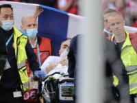 Fotbalistul danez Christian Eriksen, prăbuşit pe teren, din senin, în timpul meciului Danemarca – Finlanda de la Euro 2020