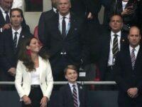 Kate Middleton, Prințul William și Prințul George, prezenți pe stadionul Wembley la finala EURO 2020